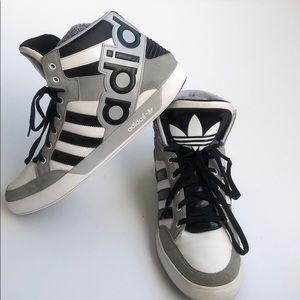 Adidas Hard Court Hi Big Logo Sneakers Gray 13